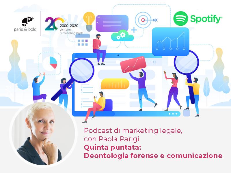 Cover podcast marketing legale paola parigi